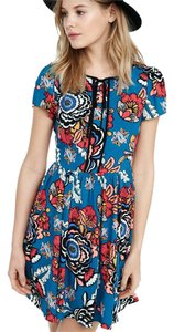 Express short dress Floral, blue on Tradesy