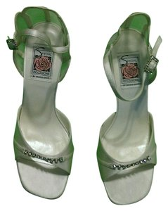 Special Occasions by Saugus Shoe Sandals Rhinestones Creamy white Formal