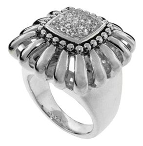 Lagos Lagos Diamond Daisy Cocktail Ring-Sterling Silver