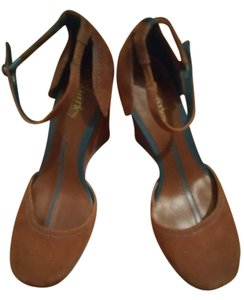 Charles by Charles David Tan and turquoise wedge shoes Wedges