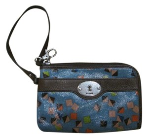 Fossil Blue Wallet Wristlet in Mix colors