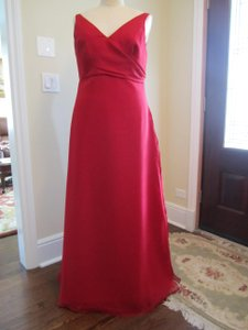 Impression Bridal Apple Red Apple Red A-line Ruched Bust Layered Bridesmaid Dress Dress