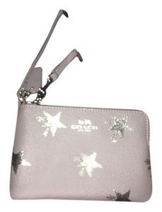 Coach Wristlet in Gray with stars