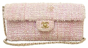 Chanel E/w Tweed Bar Flap Shoulder Bag
