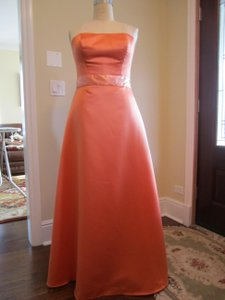 Madeline Gardner New York Tangerine/Coral/Orange Strapless Tangerine/coral A-line Bridesmaid Dress Dress