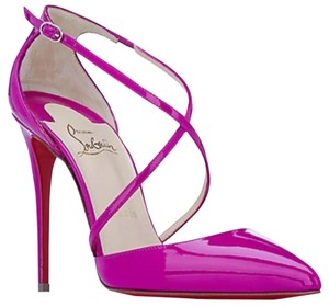 Christian Louboutin Louboutin Loubs Red Bottoms Magenta Pumps
