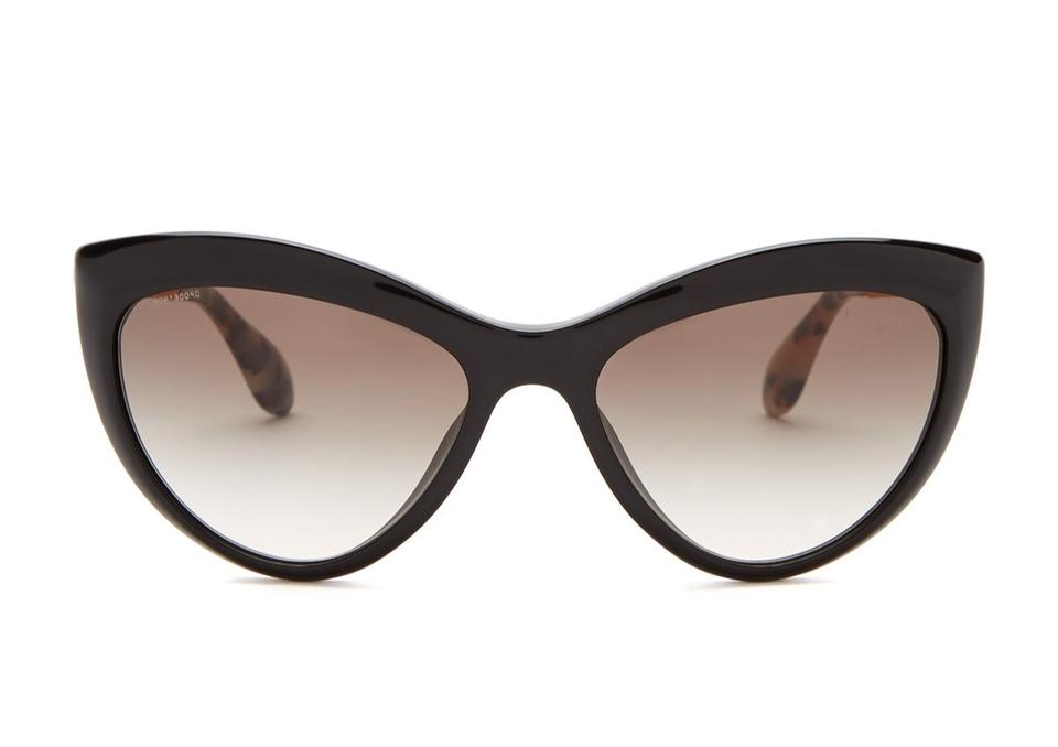 14f26e2d044 Miu Miu Black Gold New Cat Eye Smu080 Sunglasses - Tradesy