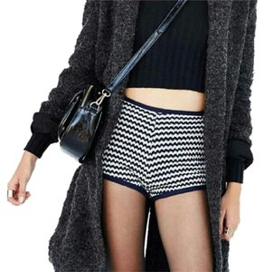 Urban Outfitters Mini/Short Shorts Navy and White