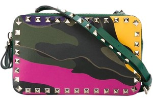 Valentino New Camouflage Rockstud Cross Body Bag