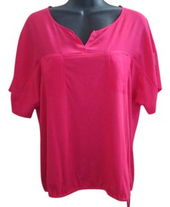 Chico's Silk Summer Knit Casual Top Hot Pink