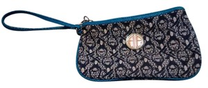 Lilly Pulitzer Wristlet in Teal/Navy/white