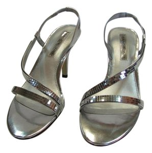 Bandolino Size 8.50 M Very Good Condition Silver Sandals