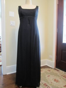 Dave & Johnny Black Layered Rhinestone Accent Long Bridesmaid Or Mother Of The Bride/groom Dress Dress