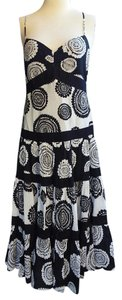 Black and white Maxi Dress by BCBGMAXAZRIA Bcbg Ruffled Summer Midi