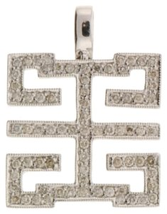 Other 18k gold 1/3 ct diamond Greek key design pendant