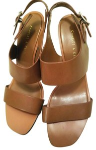 Charles & Keith Strap Wedge brown Sandals