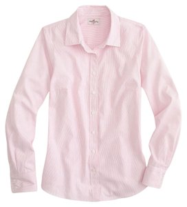 J.Crew Pinstripe Button Down Shirt Pink
