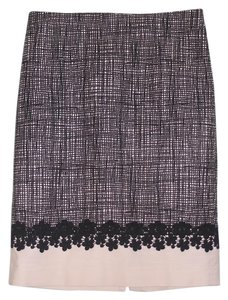 Talbots Skirt Black and cream
