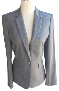 Tahari Business Grey/white Blazer