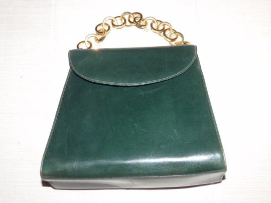 e5d00c2e4c2a Salvatore Ferragamo Gold Hardware Mint Vintage Early Dressy Or Casual True  1960 s Mod Satchel in deep