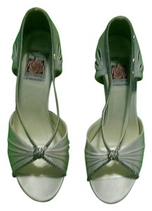 Special Occasions by Saugus Shoe Glittering Crystals White Satin Formal