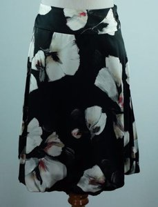 White House | Black Market Silk Floral Print Balloon Hem Skirt Multi-Color