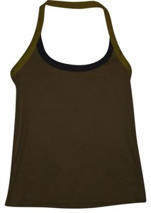 Marc Jacobs Light khaki, light blue and yellow trim Halter Top