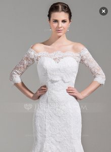 Half Sleeve Lace Bridal Wrap Jacket Cover Up Wedding Dress
