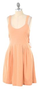 Anthropologie short dress Orange Textured Knit Fit & Flare on Tradesy