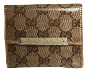 Gucci Gucci gold French wallet