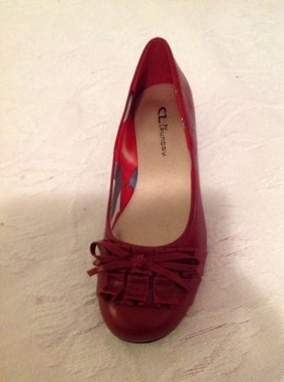 Chinese Laundry Red Wedges
