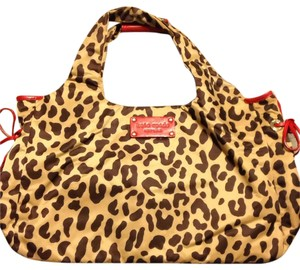 Kate Spade Leather and Nylon Leopard Print bag Satchel in Leopard Print, Brown And Red