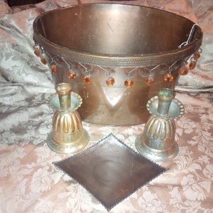 Rustic Or Bohemian Style ~ Rare Unity Set & Oval Bucket