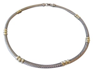 David Yurman sterling silver, 14k yellow gold, choker / necklace