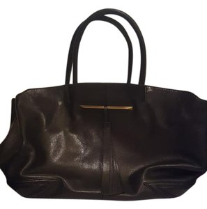 Brian Atwood Leather Tote in Black