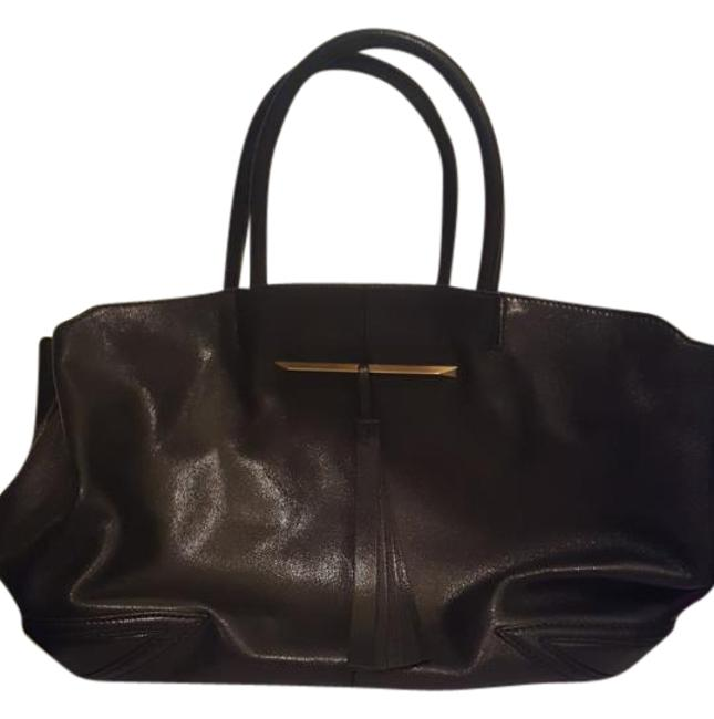 Item - East West Grace Black Leather Tote