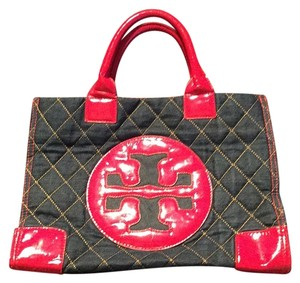 Tory Burch Satchel in Blue & Red
