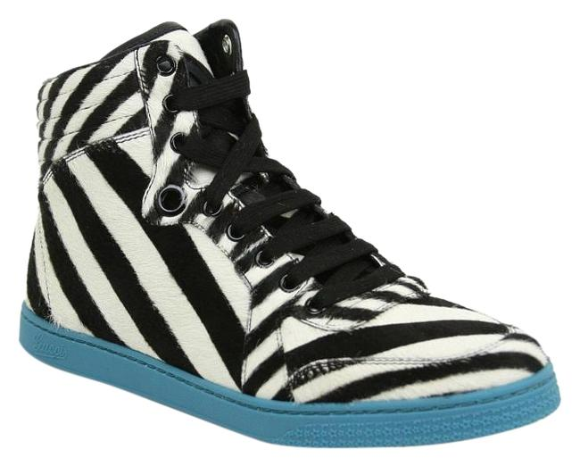 Item - Multi-color New White/Black Zebra High Top G / 9 354312 9092 Sneakers Size EU 38.5 (Approx. US 8.5) Wide (C, D)