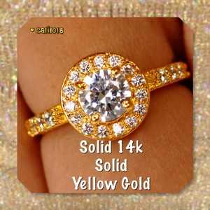 New 2.50 Ct Manmade Diamond Solid 14k Yellow Gold Ring
