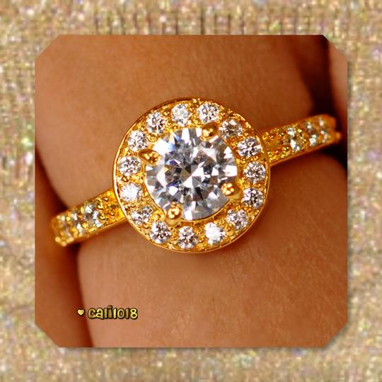 Solid 14k Yellow Gold New 2.50 Ct Manmade Diamond Engagement Ring Image 1