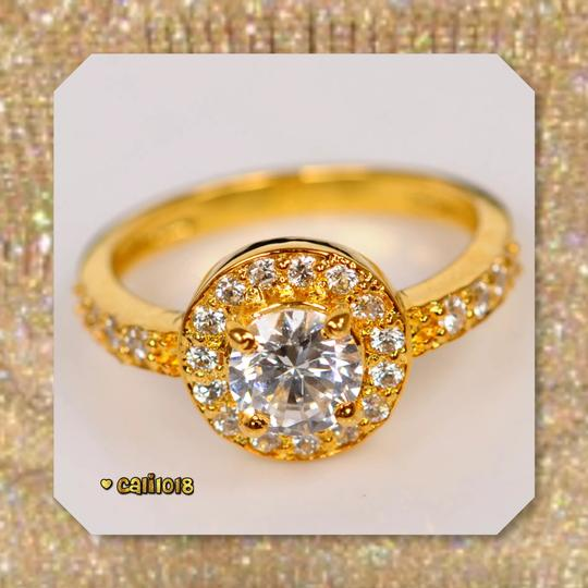 Solid 14k Yellow Gold New 2.50 Ct Manmade Diamond Engagement Ring Image 2
