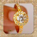 Solid 14k Yellow Gold New 2.50 Ct Manmade Diamond Engagement Ring Image 3