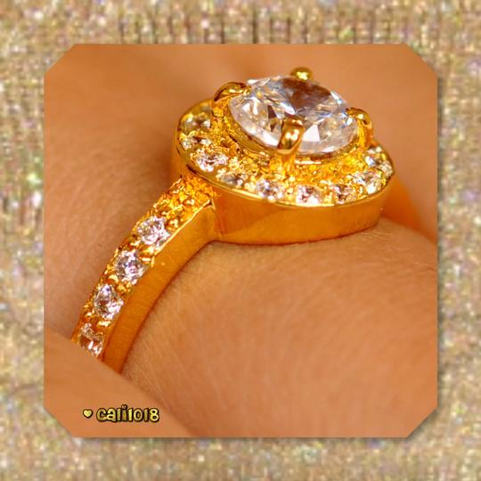 Solid 14k Yellow Gold New 2.50 Ct Manmade Diamond Engagement Ring Image 4