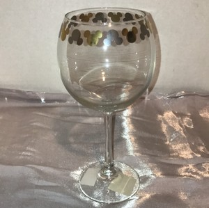 Disney Disney wine cup with gold Mickey symbols