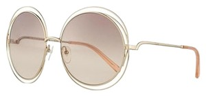 709ab16d14a Chloé Carlina Round Wire-Frame Sunglasses Transparent Peach