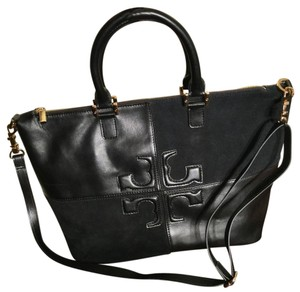 Tory Burch Satchel in Black & Gold