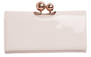 Ted Baker New Baby Pink Patent Leather Crystal Odd Bobble Matinee Continental