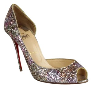 Christian Louboutin Rosette Gold Pumps