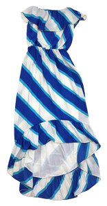Lilly Pulitzer Blue White Striped Strapless Dress