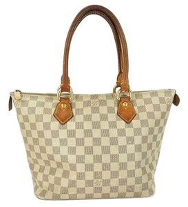 Louis Vuitton Neverfull Totally Saleya Satchel in Damier Azur